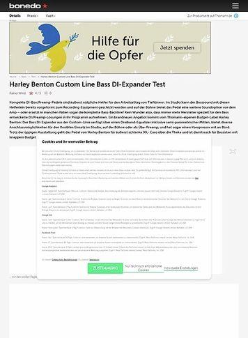 Bonedo.de Harley Benton Custom Line Bass DI-Expander