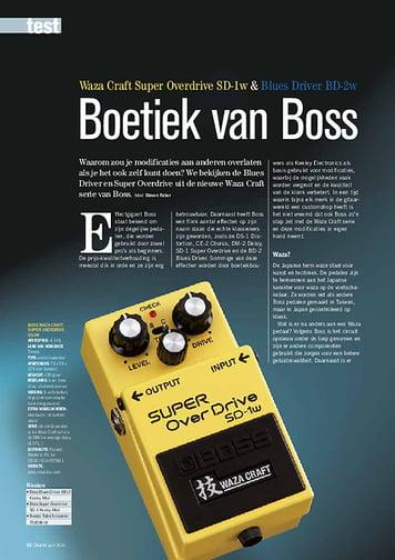gitarist.nl Boss Waza Craft Super Overdrive SD-1w & Blues Driver BD-2w