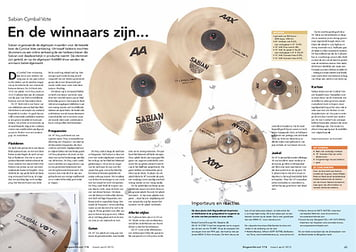 slagwerkkrant.nl Sabian Cymbal Vote