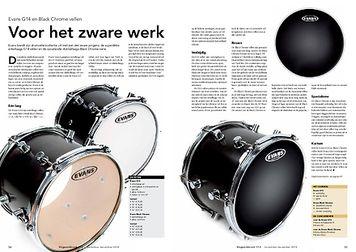 slagwerkkrant.nl Evans G14 en Black Chrome vellen