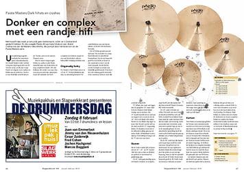slagwerkkrant.nl Paiste Masters Dark crashes en hihats