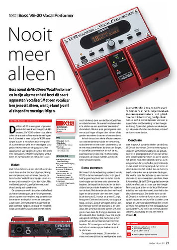 interface.nl Boss VE-20 Vocal Performer