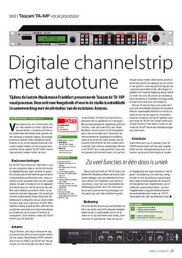 interface.nl Tascam TA-1VP vocal processor