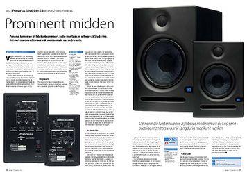 interface.nl Presonus Eris E5 en E8 actieve 2-weg monitors