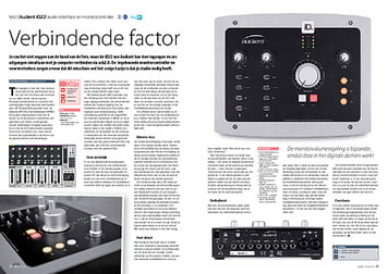interface.nl Audient iD22 audio-interface en monitorcontroller