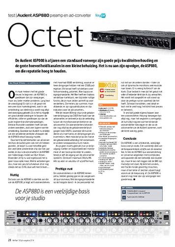 interface.nl Audient ASP880 preamp en ad-converter