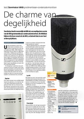 interface.nl Sennheiser MK8 grootmembraan-condensatormicrofoon