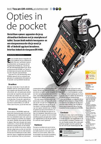 interface.nl Tascam DR-44WL pocketrecorder