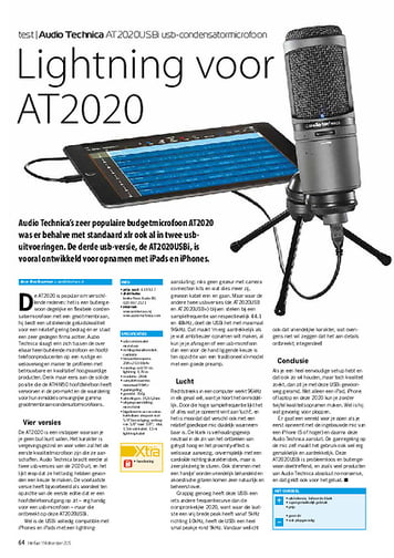 interface.nl Audio Technica AT2020USBi usb-condensatormicrofoon