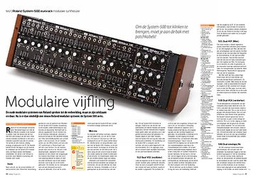 interface.nl Roland System-500 eurorack modulaire synthesizer