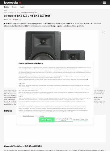 Bonedo.de M-Audio BX8 D3 und BX5 D3