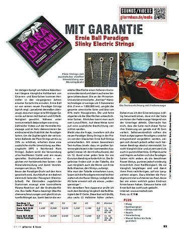 Gitarre & Bass Ernie Ball Paradigm Slinky Electric Strings