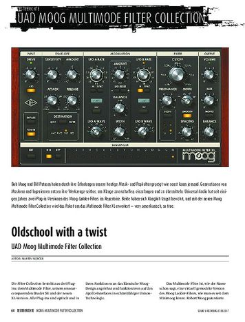 Sound & Recording UAD Moog Multimode Filter Collection
