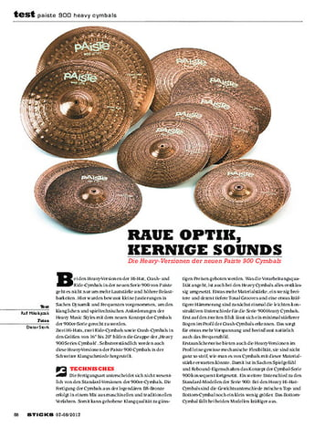 Sticks Paiste 900 Heavy Cymbals
