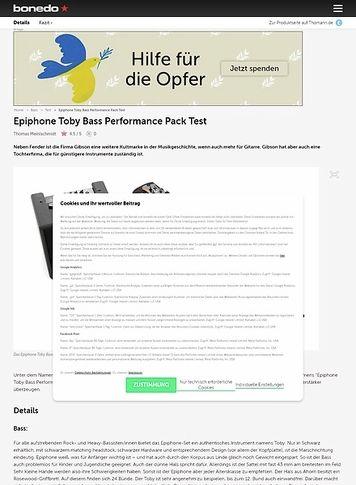 Bonedo.de Epiphone Toby Bass Performance Pack