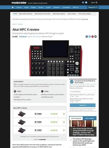 MusicRadar.com Akai MPC X