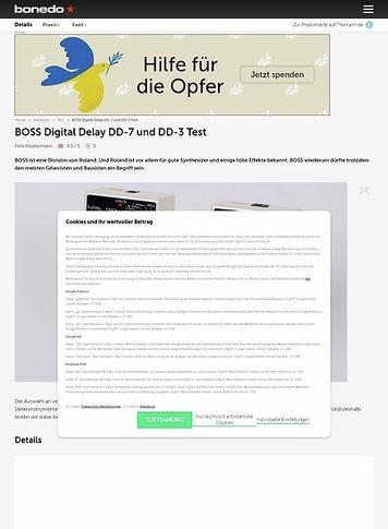 Bonedo.de BOSS Digital Delay DD-7 und DD-3