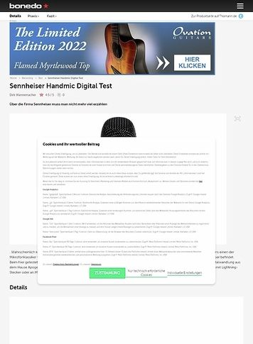 Bonedo.de Sennheiser Handmic Digital