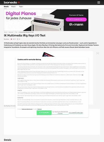 Bonedo.de IK Multimedia iRig Keys I/O