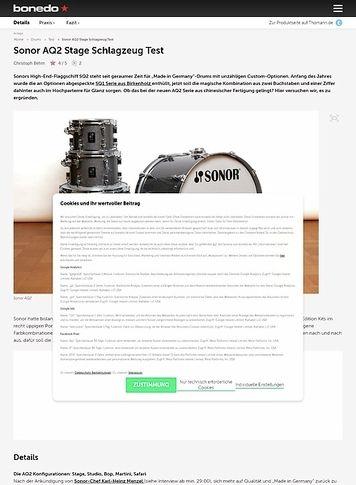 Bonedo.de Sonor AQ2 Stage Schlagzeug