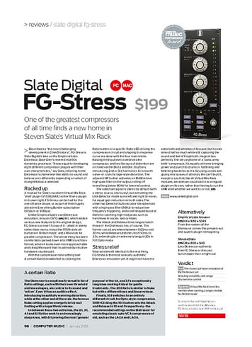Computer Music Slate Digital F G-Stress
