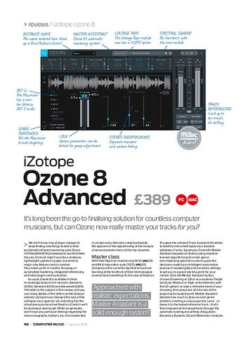 Computer Music iZotope ozone 8 Advanced