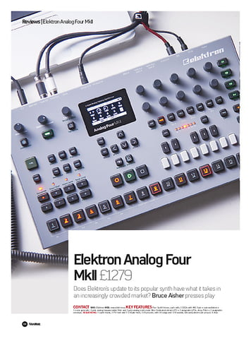 Future Music Elektron Analog Four MkII