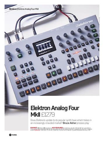 Future Music Elektron Analog Four MkII