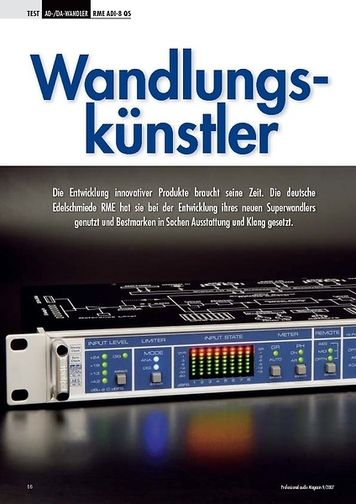 Professional Audio Wandlungskünstler RME ADI-8 QS