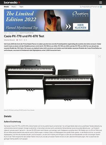 Bonedo.de Casio PX-770 und PX-870