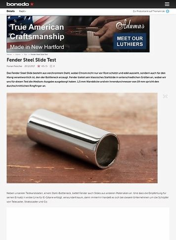 Bonedo.de Fender Steel Slide