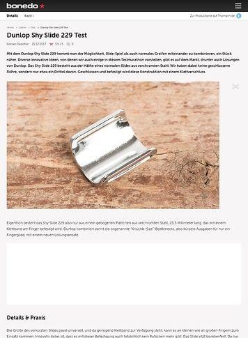 Bonedo.de Dunlop Shy Slide 229