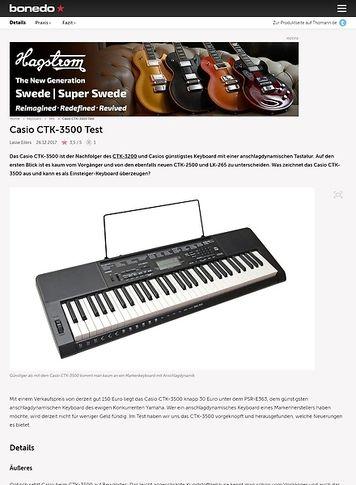 Bonedo.de Casio CTK-3500