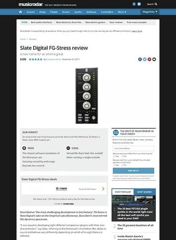 MusicRadar.com Slate Digital FG-Stress