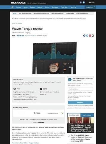 MusicRadar.com Waves Torque