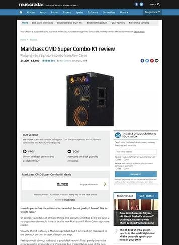 MusicRadar.com Markbass CMD Super Combo K1