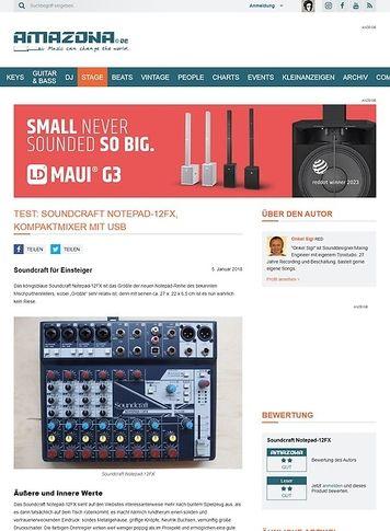 Amazona.de Soundcraft Notepad-12FX
