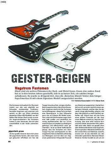 Gitarre & Bass Hagstrom Fantomen