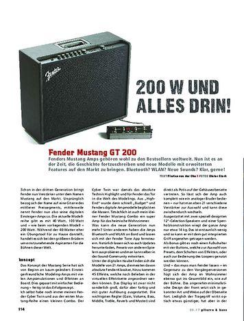 Gitarre & Bass Fender Mustang GT 200