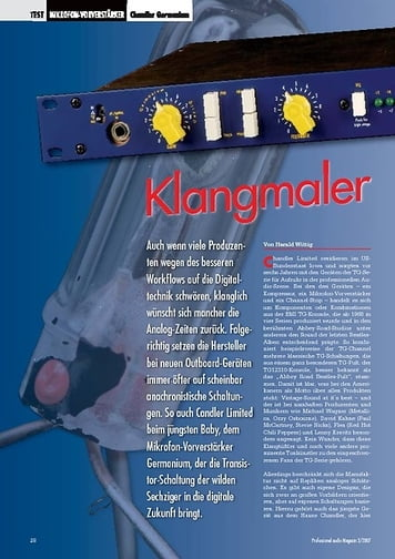 Professional Audio Klangmaler: Chandler Germanium