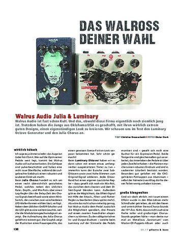 Gitarre & Bass Walrus Audio Julia  & Luminray