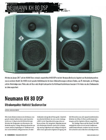 Sound & Recording Neumann KH 80 DSP