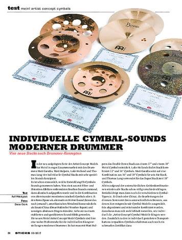 Sticks Meinl Artist Concept Cymbals