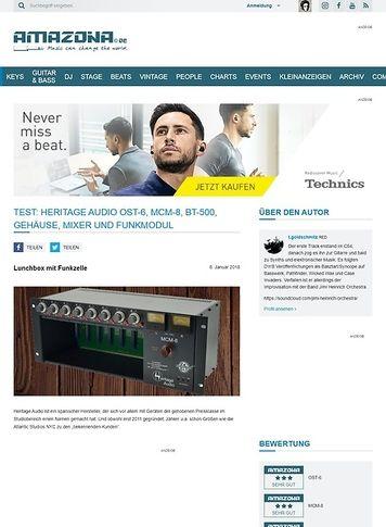Amazona.de Heritage Audio OST-6, MCM-8, BT-500