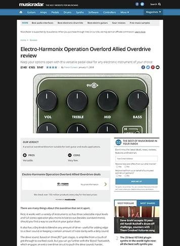 MusicRadar.com Electro-Harmonix Operation Overlord Allied Overdrive