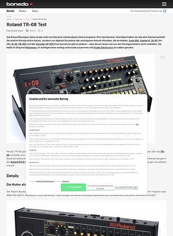 Bonedo.de Roland TR-08
