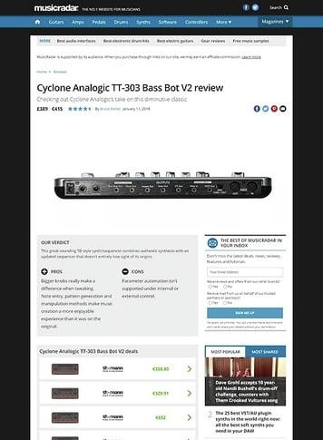 MusicRadar.com Cyclone Analogic TT-303 Bass Bot V2