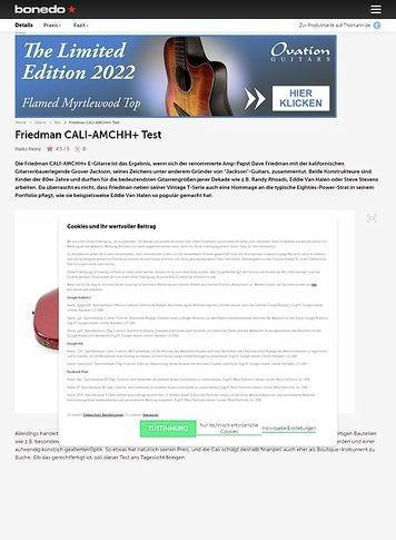 Bonedo.de Friedman CALI-AMCHH+