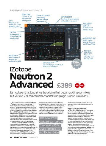 Computer Music iZotope Neutron 2 Advanced