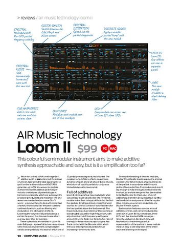 Computer Music AIR Music Technology Loom II